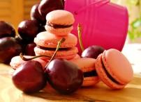 Cherry Chocolate Macarons