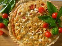 Tomato, Basil & Feta Tart